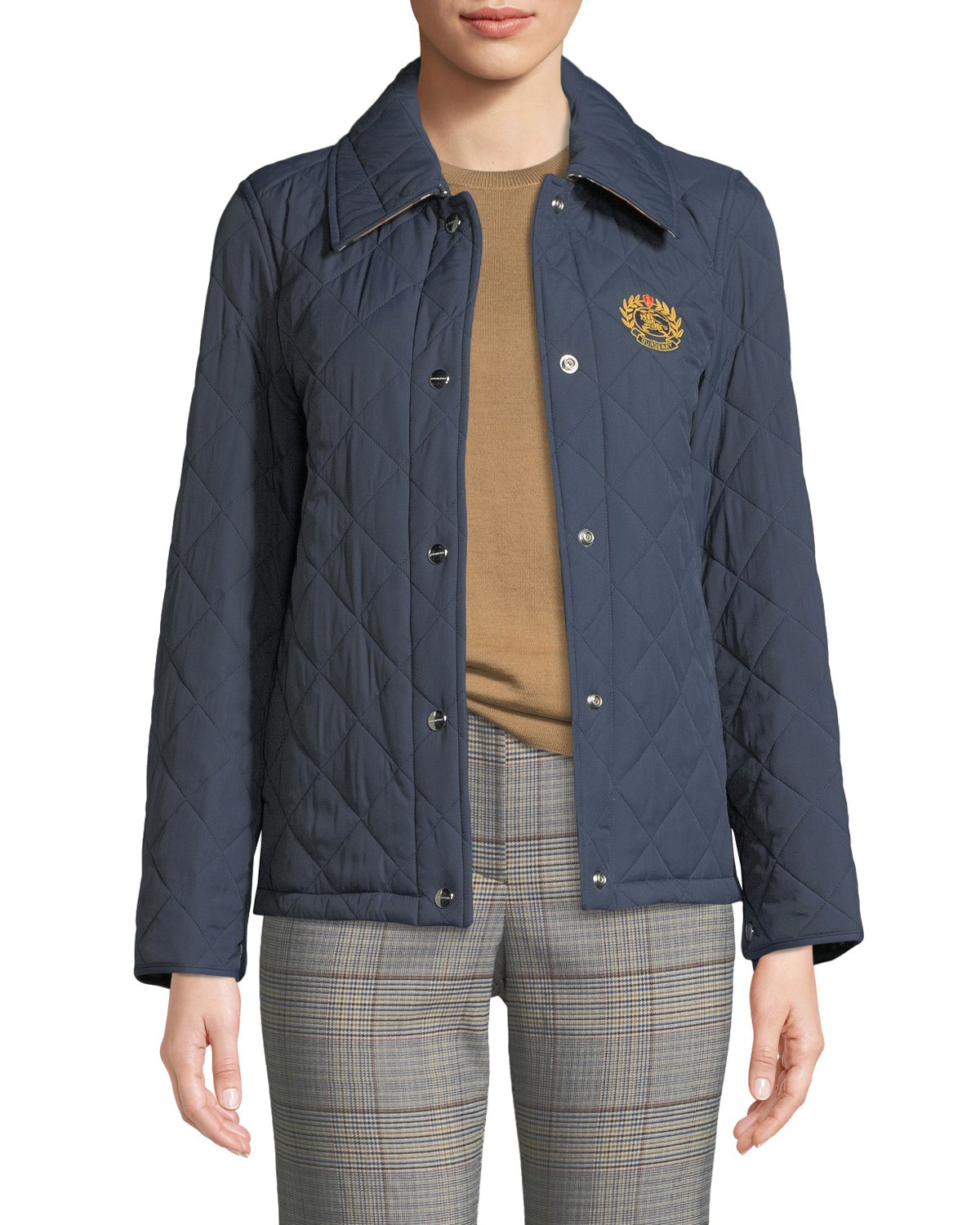 b78547e522c5 Burberry Frinton Diamond Quilted Jacket