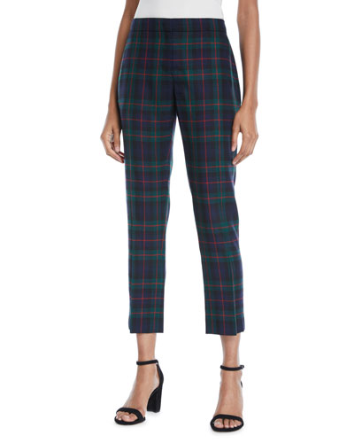 Glassbury Check Cropped Trousers