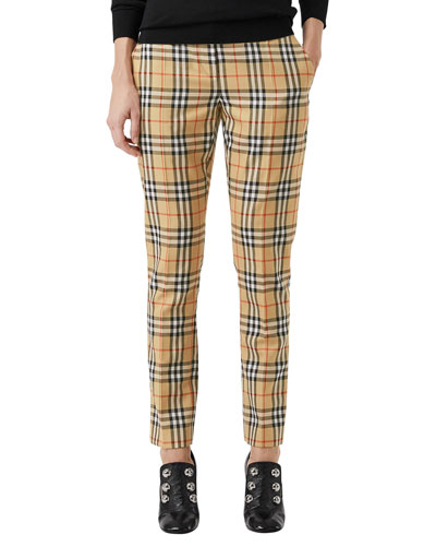 Hanover Plaid Wool Cigarette Pants