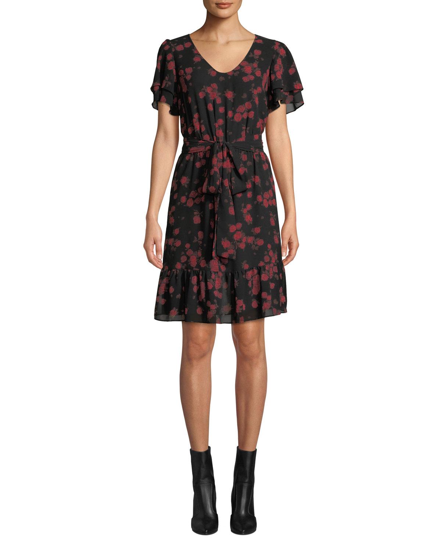 7c4890bebceab MICHAEL Michael KorsEden Rose Double-Sleeve Dress