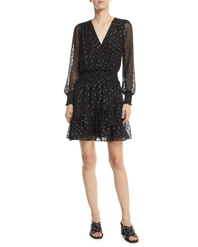 MICHAEL Michael Kors Long-Sleeve Ruffle Dress