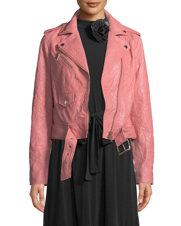 34eac2d69 MICHAEL Michael Kors Classic Leather Moto Jacket