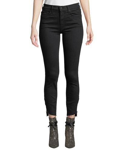 The Stunner Double-Zip Step-Hem Skinny Jeans