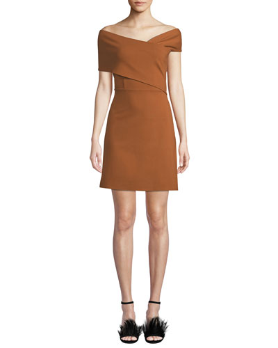 Norah Asymmetric Banded Mini Dress