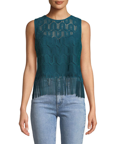 Rennie Sleeveless Fringe Top