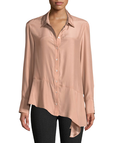 Henchman Asymmetric Silk Blouse