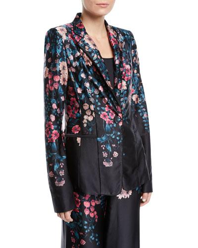 Balmore Floral Silk Blazer