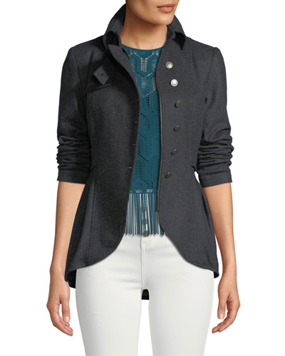 Poetic Peplum Wool Jacket