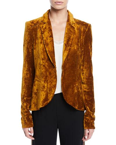 Art Lover Crushed Velvet Jacket