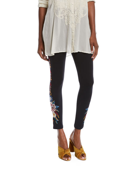 Johnny Was Plus Size Darielle Leggings with Floral