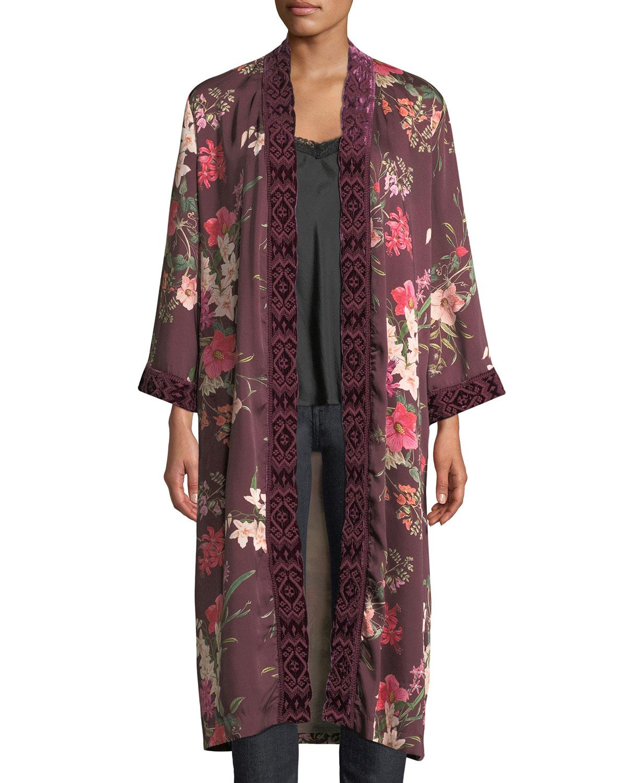 12c4d7734b4 Johnny Was Plus Size Velvet Mix Napa Fields Printed Kimono
