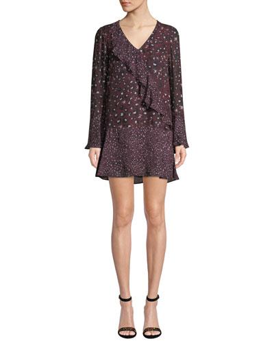 Kimberly Printed Ruffle Combo Mini Dress