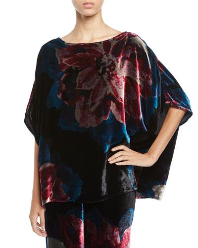 Marlete Floral Velvet Top
