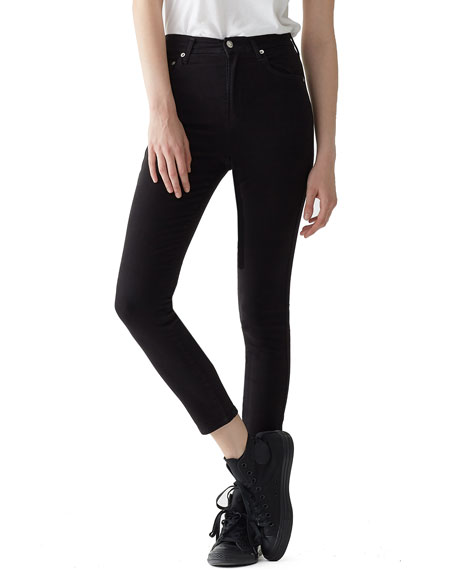 AGOLDE ROXANNE SUPER HIGH-RISE ANKLE SKINNY JEANS