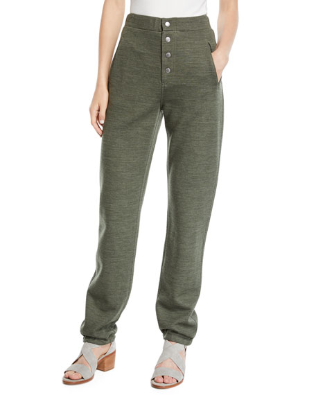 Rag & Bone Sailor Wool-Blend Sweatpants with Exposed