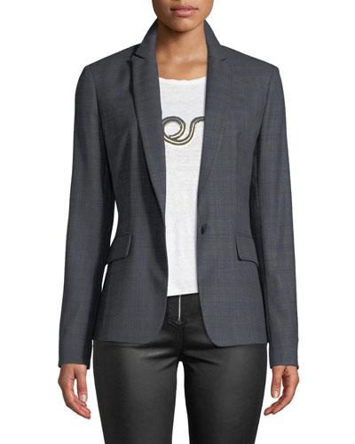 Lexington Check Wool Blazer Jacket