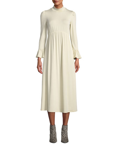 Amala Mock-Neck Long Dress, Plus Size