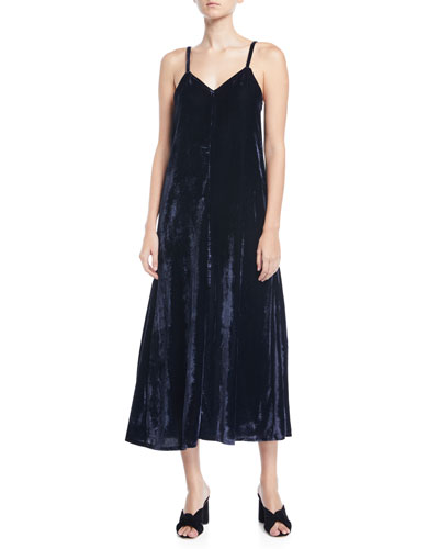 Sleeveless Velvet Maxi Dress, Plus Size