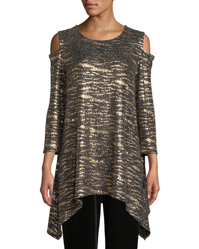 Cat's Meow Sparkle Knit Tunic, Plus Size