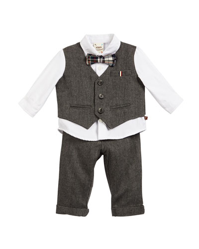 Herringbone Outfit Set, Size 6-24 Months