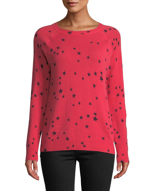 62dcacaa62 Autumn Cashmere Star-Print Cashmere Crewneck Sweater