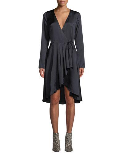 Miltona B Long-Sleeve Wrap Dress