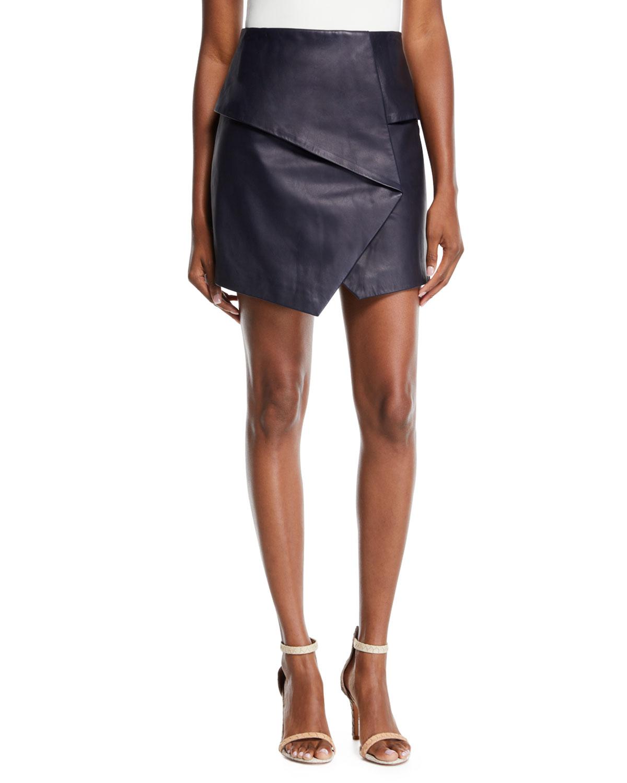 Akirako B Short Leather Skirt by Joie