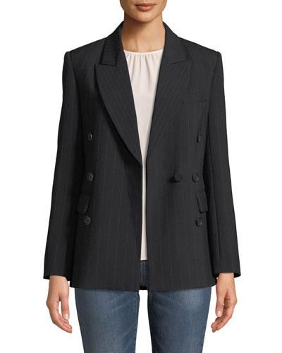 Markina B Pinstripe Blazer Jacket