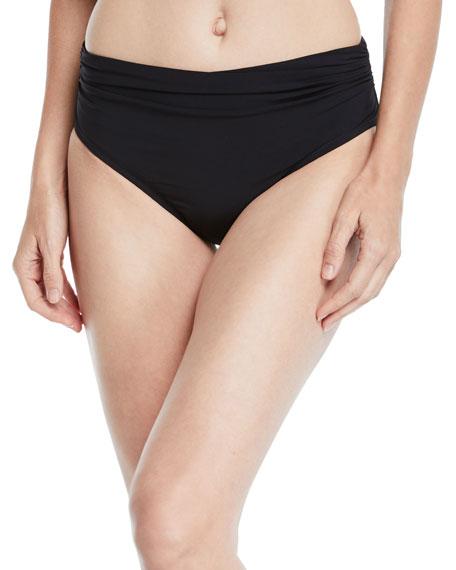 Profile By Gottex Tutti Frutti Shirred High-Waist Bikini Bottoms