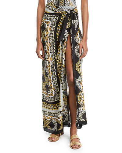 Chains Of Gold Printed Coverup Pareo