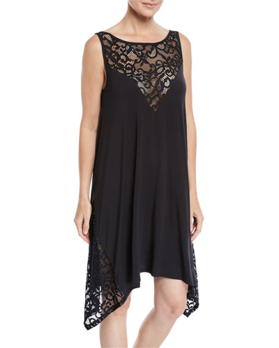 Shalimar Lace Jersey Coverup Dress