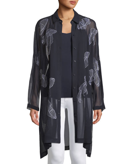 Lafayette 148 New York Kyrie Silk Georgette Shirt