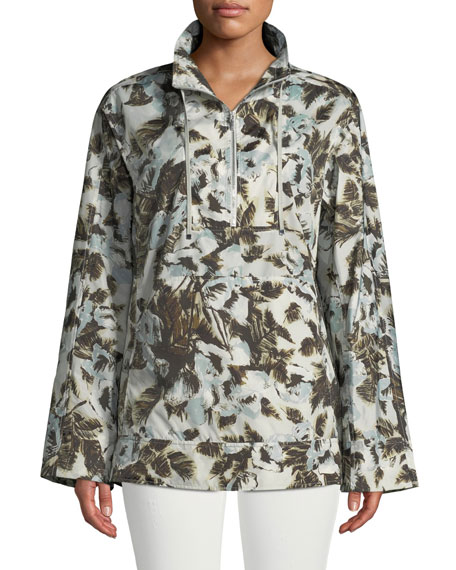 Lafayette 148 New York Baylor Long-Sleeve Excursion Palm