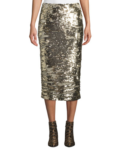 Casey Synergy Sequin Pencil Skirt