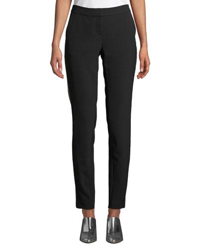 Manhattan Sleek Tech Cloth Pants with Beaded Seam