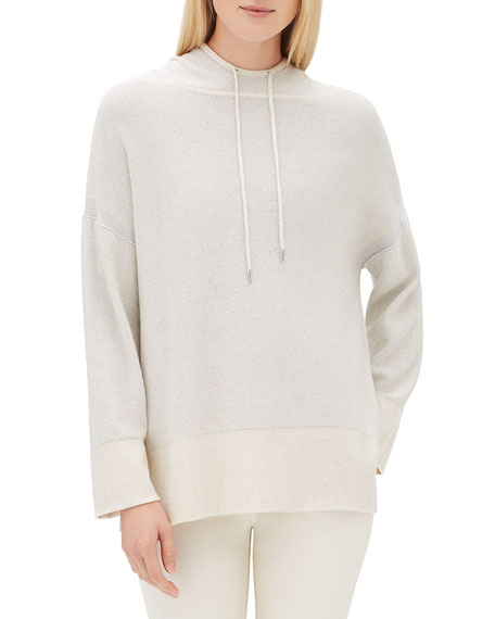 Lafayette 148 New York Sequin Long-Sleeve Luxe Silk