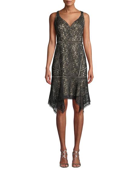 Elie Tahari Mariya Sleeveless Lace Dress In Black