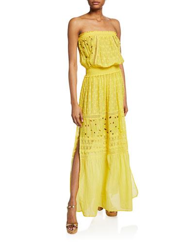 Isadora Cotton-Silk Strapless Coverup Dress