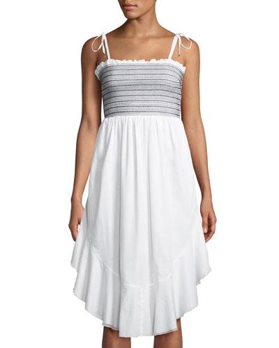 Alexia Smocked Flounce Sleeveless Dress