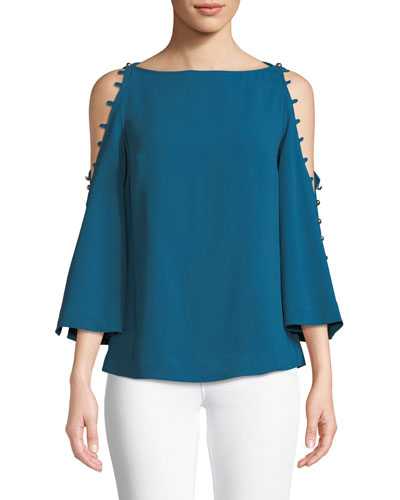 Amor Top w/ Button Shoulders