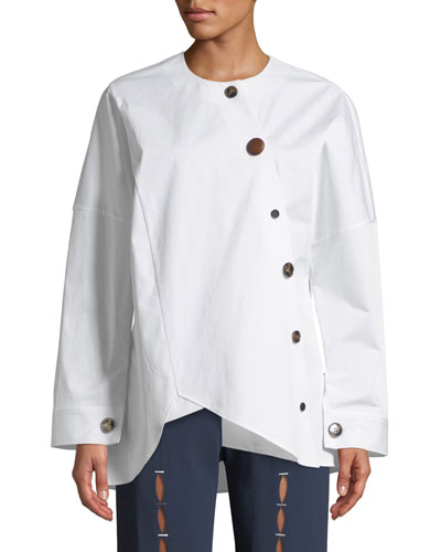 Renee Asymmetrical Button-Down Shirt