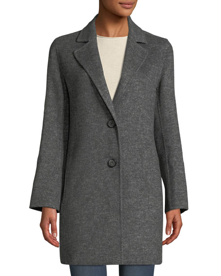 Tahari JAYDEN TWO-BUTTON WOOL COAT