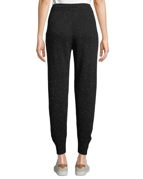 Arleena Speckled Cashmere Jogger Pants