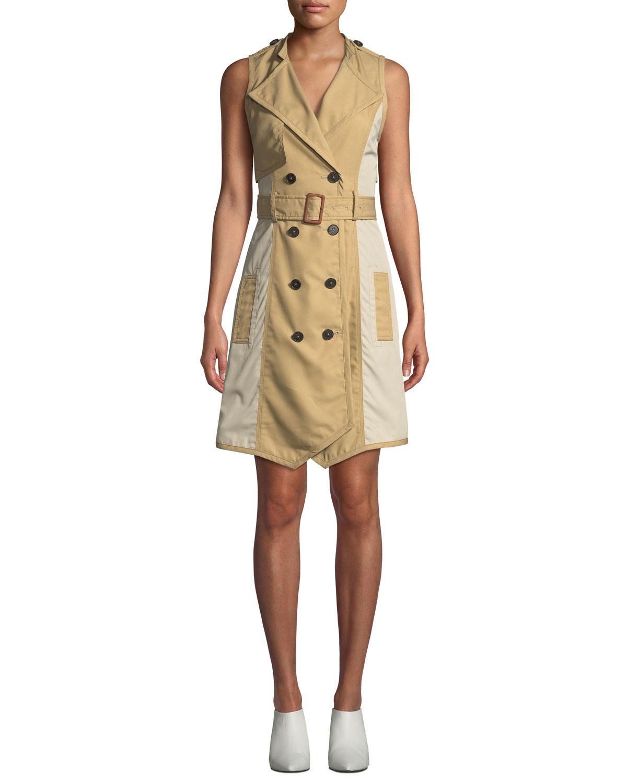 b937a78405ba98 Derek Lam 10 Crosby Sleeveless Belted Trench Dress