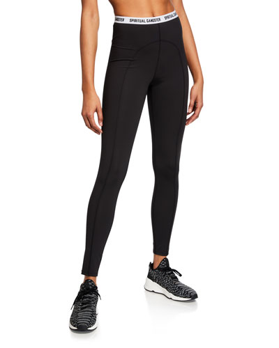 Saya Logo-Waistband Leggings