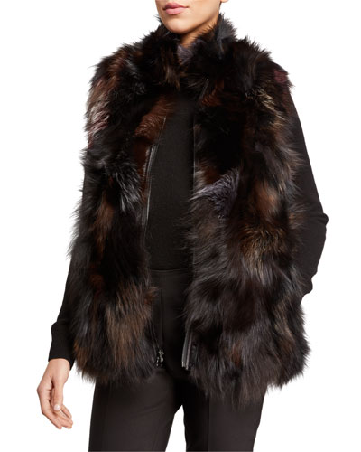 Multicolored Fur Vest
