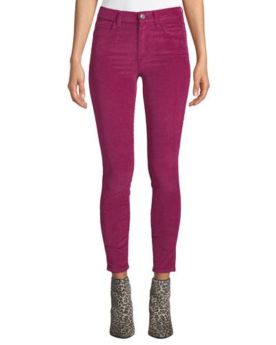 The High Waist Stiletto Ankle Corduroy Jeans