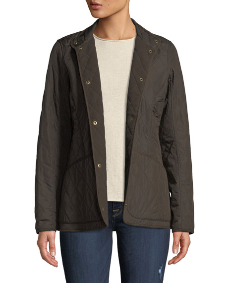 Barbour Combo Polarquilt Jacket w/ Suede Edges