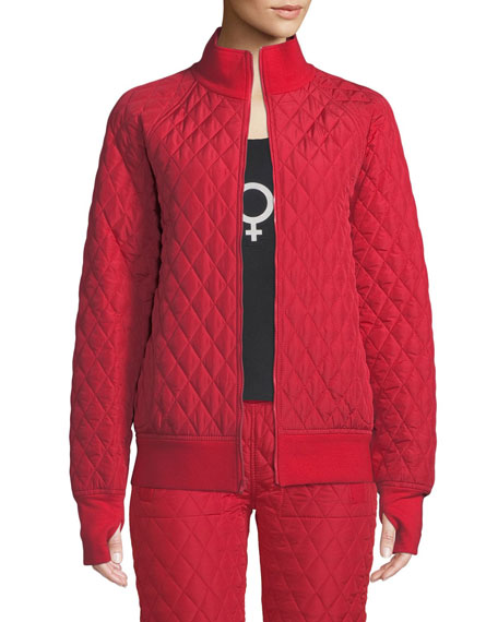 Norma Kamali Bomber jackets QUILTED STAND-COLLAR BOMBER JACKET