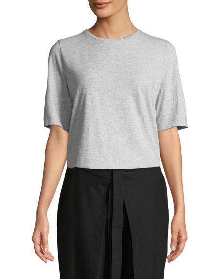 Eileen Fisher Slubby Organic Cotton Tee Shirt, Plus